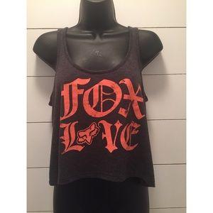 Fox Motocross Fox Love Tank Top Belly Shirt sz M
